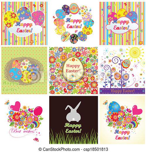 Tarjetas de Pascua - csp18501813