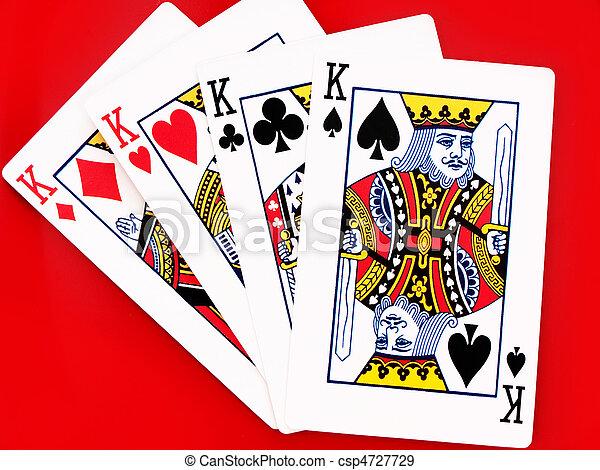 tarjetas, rey, 4 - csp4727729