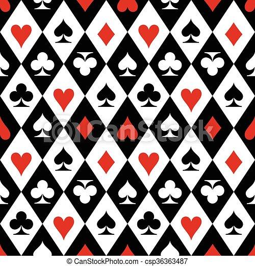 Jugando a las cartas con símbolos - csp36363487