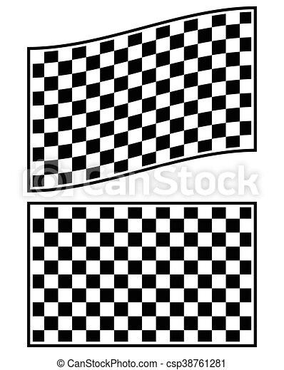 tarka, elszigetelt, lobogó, alapismeretek, white., versenyzés - csp38761281