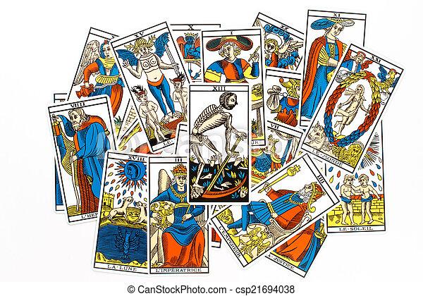 Tarot card death draw - csp21694038