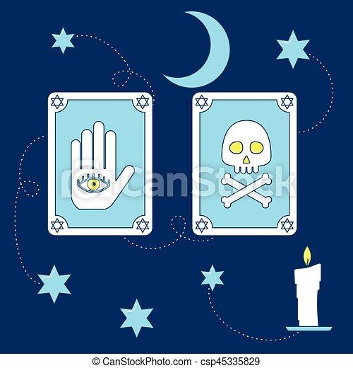 Tarot cartas mágicas. - csp45335829