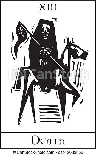 Tarot de la muerte - csp12609063