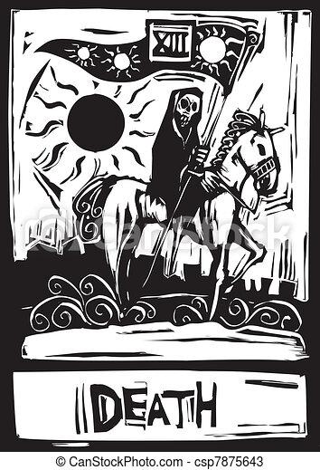 Tarot de la muerte - csp7875643