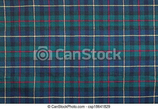 Trasfondo de mantas de tartan - csp18641829