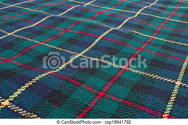 Tela escocesa de tártano - csp18641792