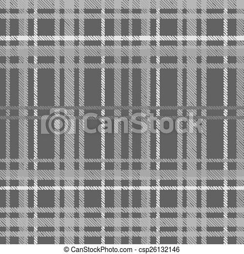 tartan, 灰色, seamless, 背景 - csp26132146