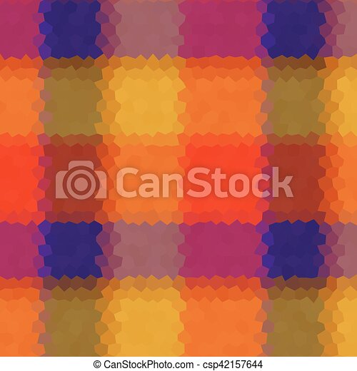 Tartan low poly hexagon style vector mosaic background - csp42157644