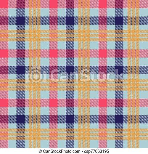 Tartan orange color seamless vector pattern - csp77063195