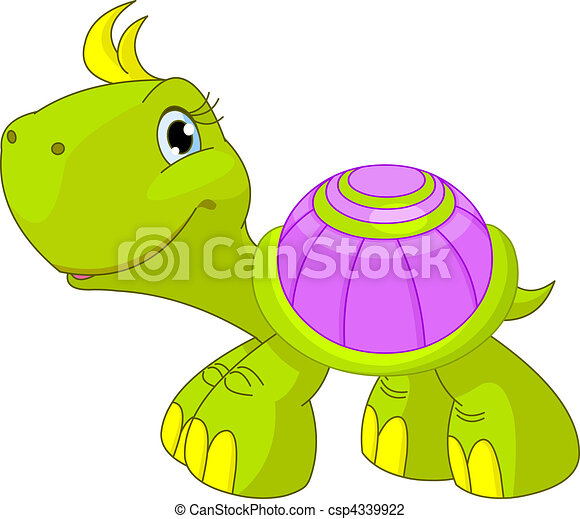 tartaruga, carino, divertente - csp4339922