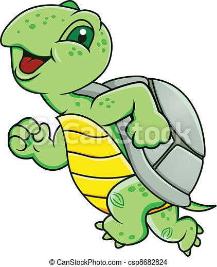 tartaruga, correndo - csp8682824