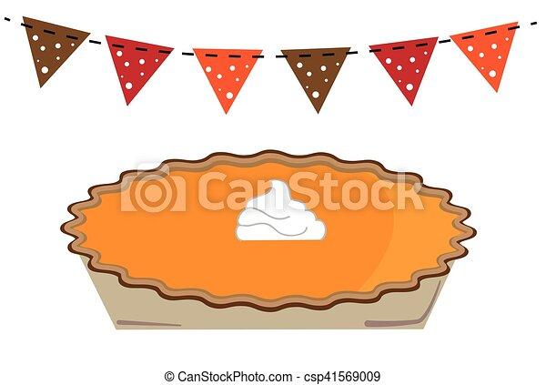 tarte citrouille, thanksgiving - csp41569009