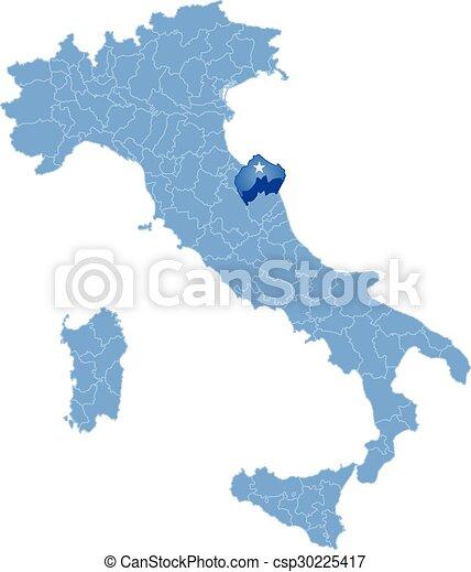 Tartomany Terkep Ancona Olaszorszag Tartomany Terkep