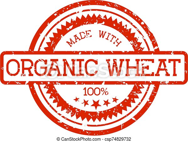 tarwe, postzegel, organisch, rubber - csp74829732