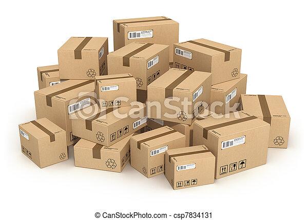 tas, boîtes carton - csp7834131