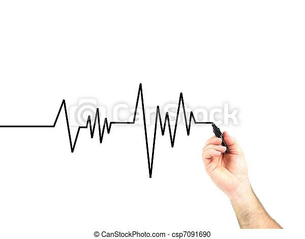 Ritmo cardíaco - csp7091690