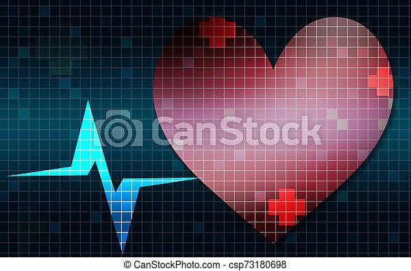 Frecuencia cardíaca gráfica - csp73180698