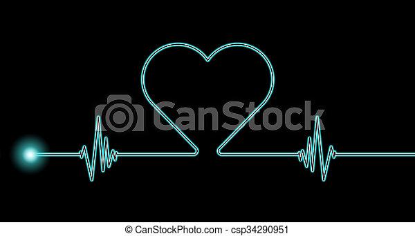 Ritmo cardíaco - csp34290951
