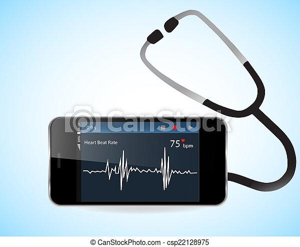 Sabelotodo y monitor cardíaco - csp22128975