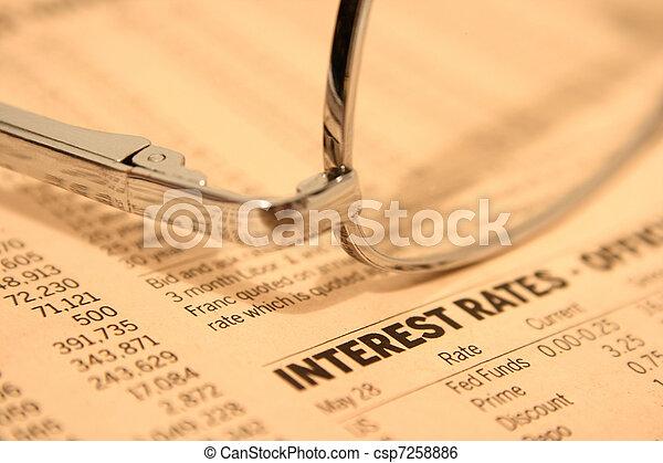 Tipo de interés - csp7258886