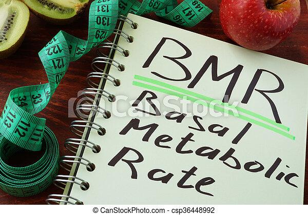 Tasa metabólica BMR basal - csp36448992