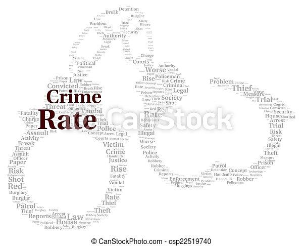 El índice de criminalidad forma nube - csp22519740