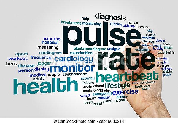 Pulso: nube de palabra - csp46680214