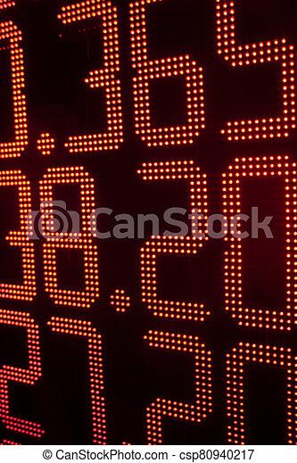 tasas, oficina de cambio, tabla - csp80940217