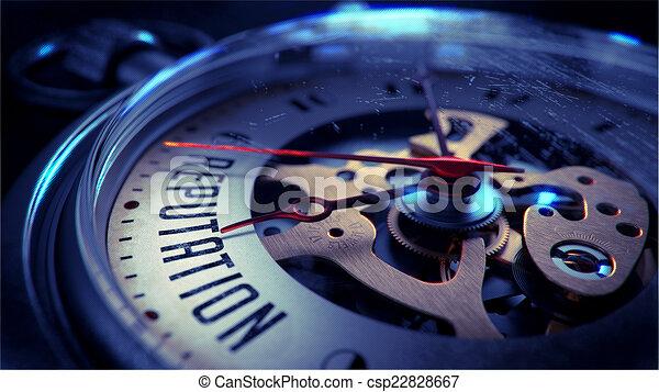 tasca, face., reputazione, orologio - csp22828667