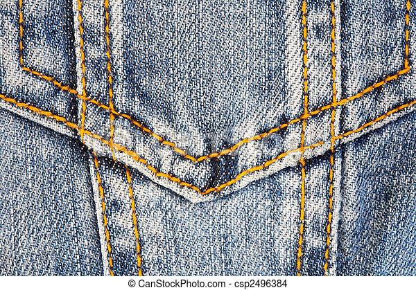 tasca, foto, jeans - csp2496384