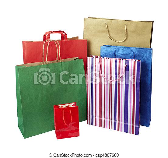 tasche, verbraucherbewegung, einzelhandelseinkäufe - csp4807660