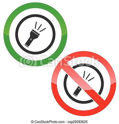 Taschenlampe clipart  Vektoren von taschenlampe, erlaubnis, zeichen & schilder - Allowed ...