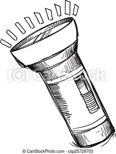 Taschenlampe clipart  Vektor Clipart von taschenlampe, gekritzel, skizze, vektor, kunst ...