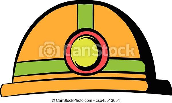 Taschenlampe clipart  Clipart Vektor von taschenlampe, helm, ikone, karikatur, ikone ...
