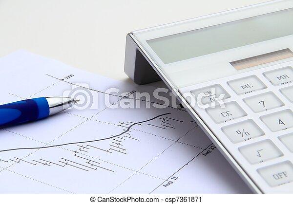 taschenrechner, bestandstabelle, bearish - csp7361871