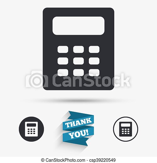 Taschenrechner Buchhaltung Zeichen Icon Symbol Wohnung Danken