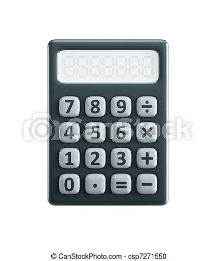 taschenrechner, freigestellt - csp7271550