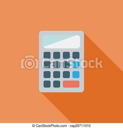Taschenrechner Icon Wohnung Taschenrechner Piktogramm Ihm