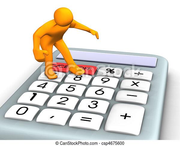 taschenrechner - csp4675600