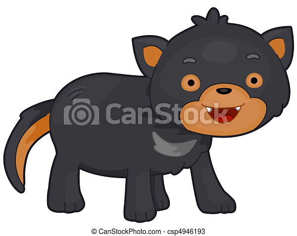 illustration of a tasmanian devil with eyes wide open rh canstockphoto com cute tasmanian devil clipart Cute Tasmanian Devil