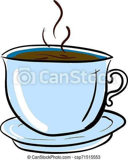 tasse à café, illustration, arrière-plan., vecteur, blanc - csp71515553