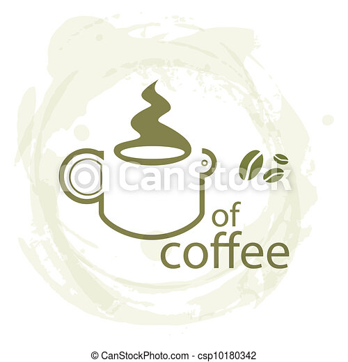 tasse à café, -, illustration, sale, fond - csp10180342