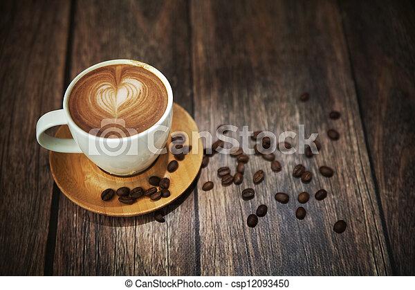 tasse à café, pousse, grand - csp12093450