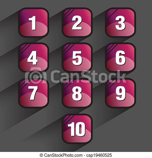 Quadratknopfsätze - csp19460525