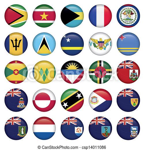tasten, flaggen, amerikanische , weich, runder  - csp14011086