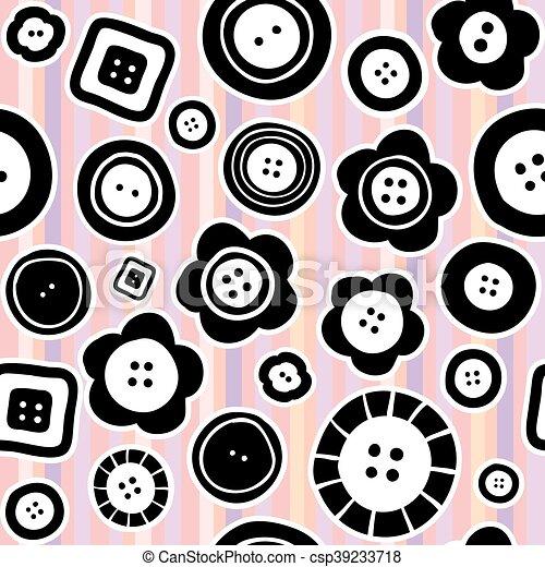Tasten, muster, nähen, seamless. Mode, stoff, nähen, pattern ...
