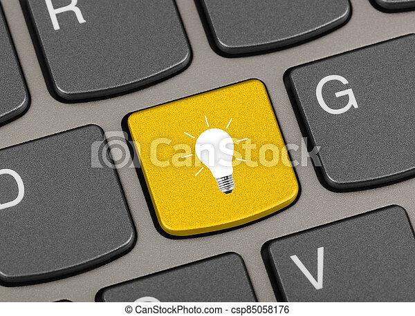 tastiera, chiave, lampada, computer - csp85058176
