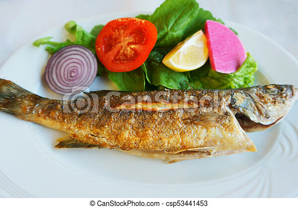 tasty and useful fried fish - csp53441453
