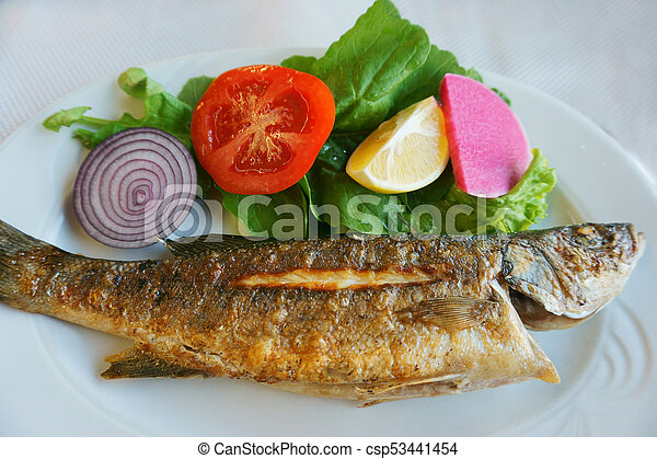 tasty and useful fried fish - csp53441454
