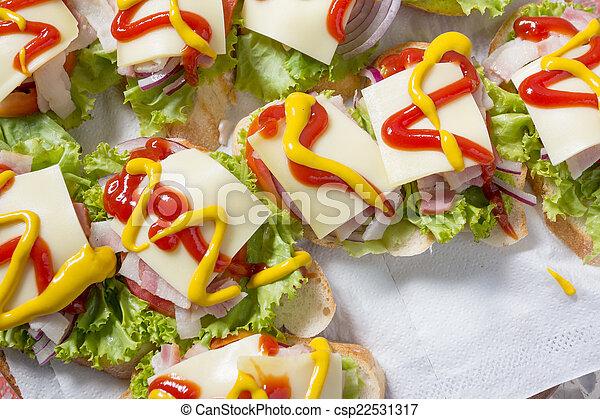Tasty Bacon cheese sandwish - csp22531317